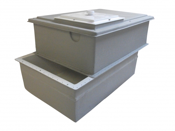 Grp Two Piece Water Storage Tanks Insulated Wras Approved
