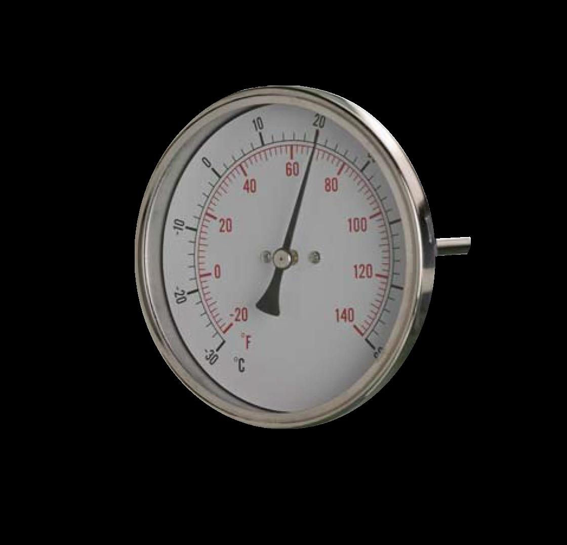 100mm Bimetal thermometer - SMTGB100SS
